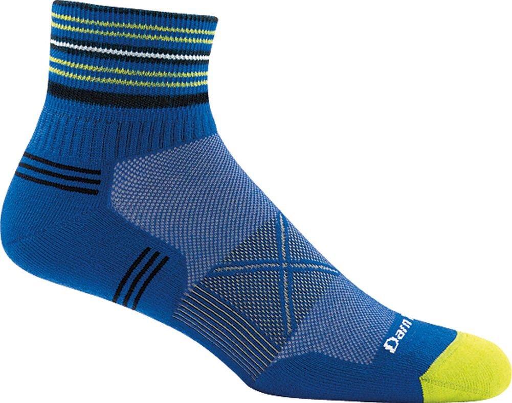 Darn Tough Coolmax Vertex 1/4 Ultra-Light Cushion Sock - Men's Marine Large