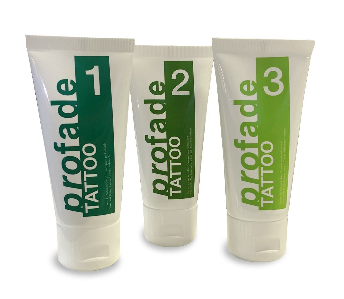 Profade - Natural Tattoo Removal Cream - Complete 3-step Set for Gentle Tattoo Removal