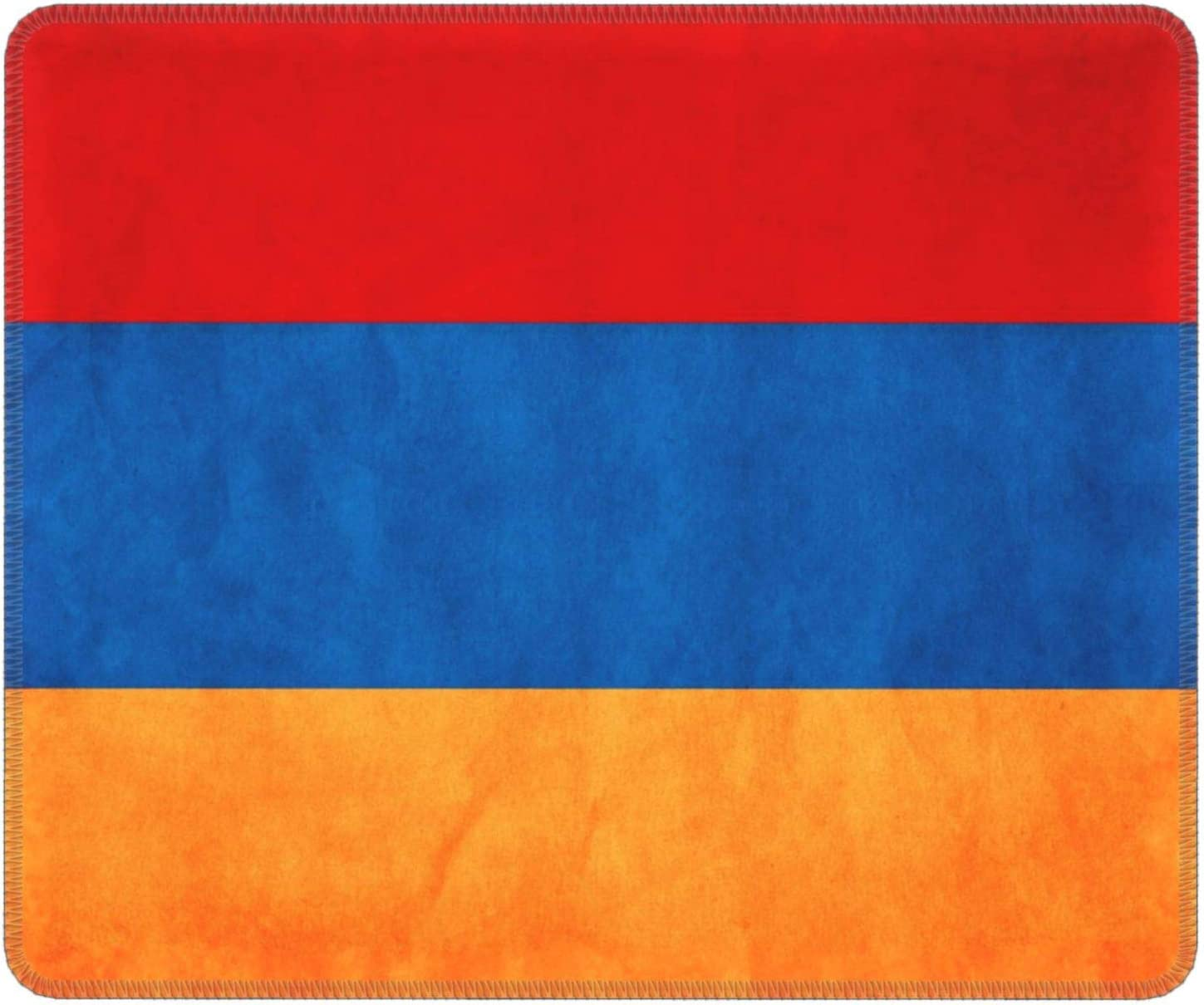 OHMYCOLOR Retro Armenia Flag Gaming Mouse Pad Mouse Mat Non-Slip Rubber Game Mousepad with Stitched Edge Wrist Rests Multifunctional Big Office Desk Pad for Pc Computer Laptop 7.9 X 9.5 in