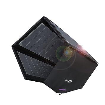 imuto 36W Cargador Solar Panel Solar con 5V 2.7A Salida USB + 18V 1.5A DC Salida SunPower Cargador Plegable de Alta Eficiencia para Portátiles, iPad, ...