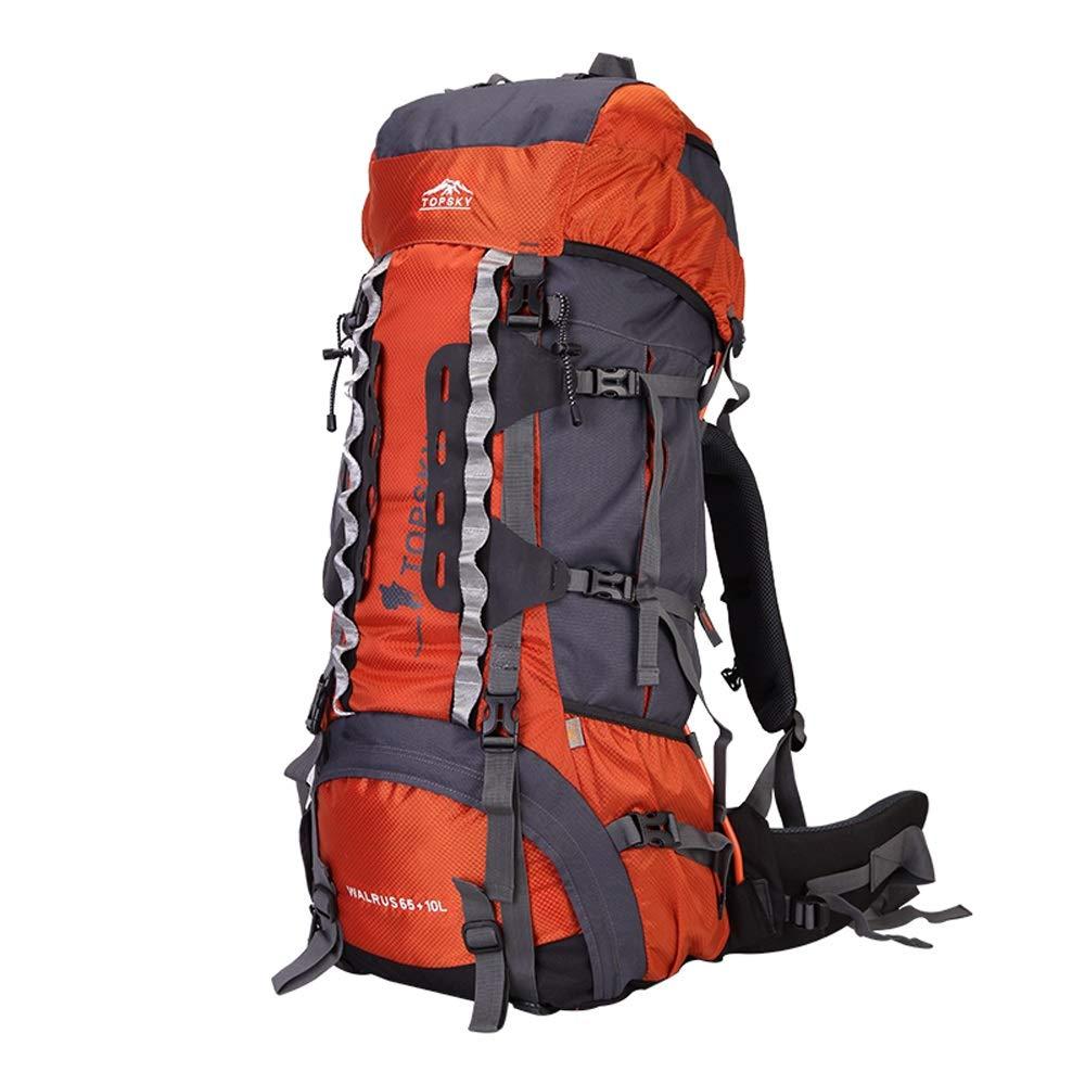 屋外登山バッグショルダー男性大容量多機能女性ハイキングバックパック B07MB924P8 Orange