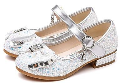 5091101370749 YOGLY Babies Fille Chaussure à Talon Enfant Ballerine de Princesse avec  Paillettes Chausson Maryjane