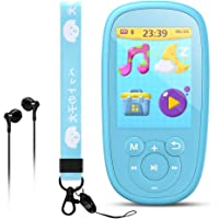 AGPTEK Bluetooth MP3 Player for Kids, 8GB Children Music Player 2.4 Inch HD Screen with Built-in Speaker, 10 Lullabies…