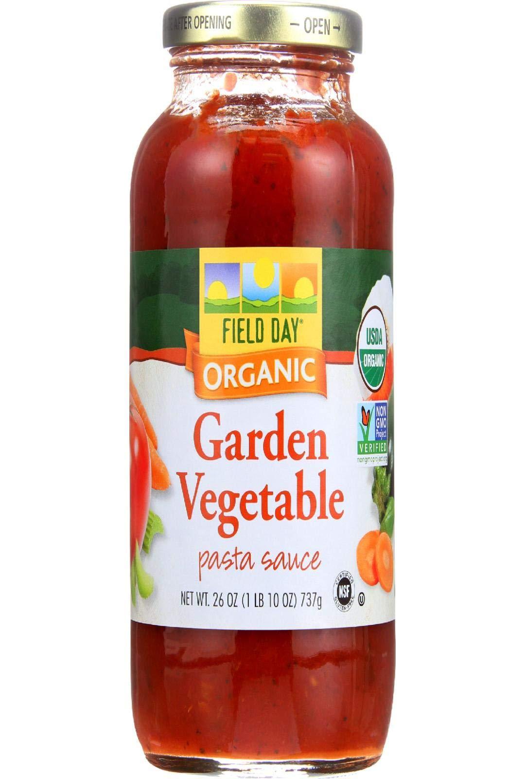 Field Day Organic Garden Vegetable Pasta Sauce, 26 Ounce - 12 per case.