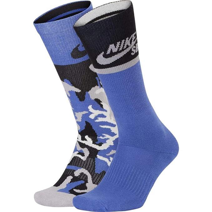 07bb5e54d7bbf Nike SB Energy Crew Socks 2 Pack Purple Camo/Purple, Large: Amazon ...