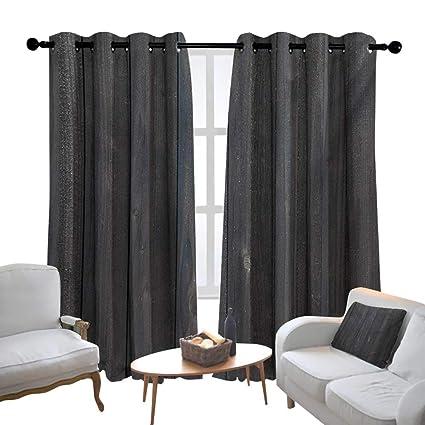 Astonishing Amazon Com Lewis Coleridge Grommet Curtains Dark Grey Wood Caraccident5 Cool Chair Designs And Ideas Caraccident5Info