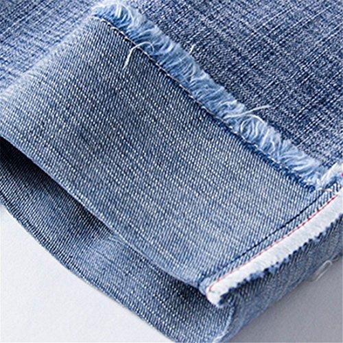de versión Pantalones Azul gordos Pantalones de Gran tamaño Claro Rectos Stazsx Pantalones Hombres Suelta de gordos Pantalones los Verano de Jeans Nueve más harén Coreana Rggqw7t