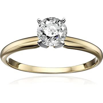 best selling Amazon Collection Round Solitaire