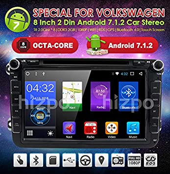 hizpo Android Stereo Car Radio Navegación GPS Compatible con Caddy ...