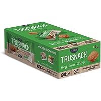 Trusnack Key Lime Ginger - 90 Cal Pack - Gluten Free - Vegano ( Paquete 30g - 12 Pack Box)