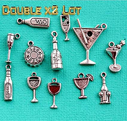 Amazon com: Double x2 LOT of Cocktails Deluxe Charm