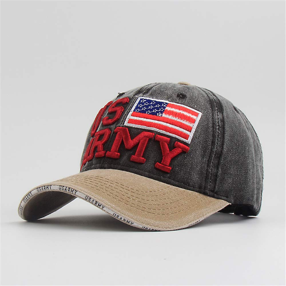 zhuzhuwen Hot Hat Washed Old American Flag Letra Gorra de béisbol ...