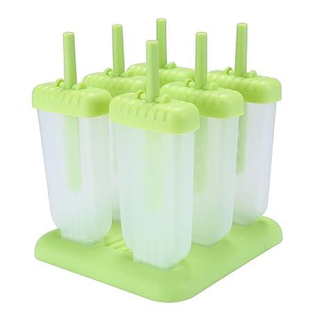 AOLVO DIY moldes de plástico para Helado moldes de Palo, moldes Reutilizables, moldes para