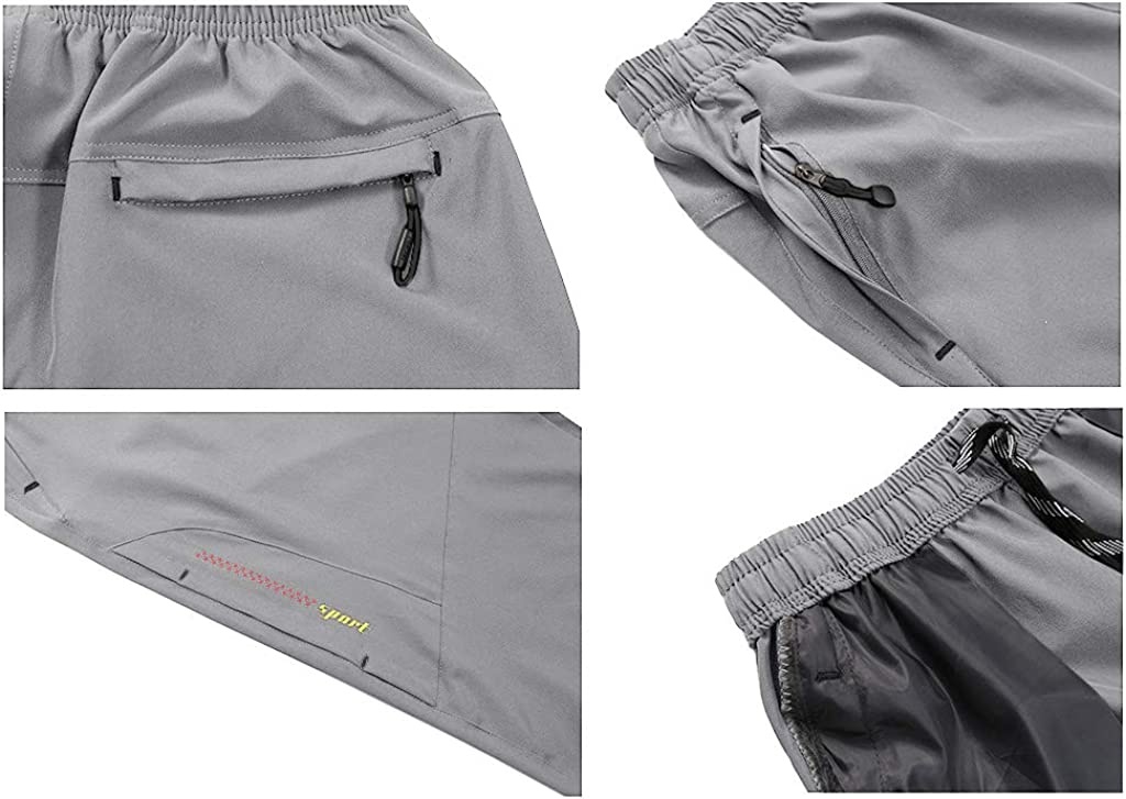 CRYSULLY Mens Outdoor Sports Quick Dry 3//4 Capri Pants Hiking Shorts