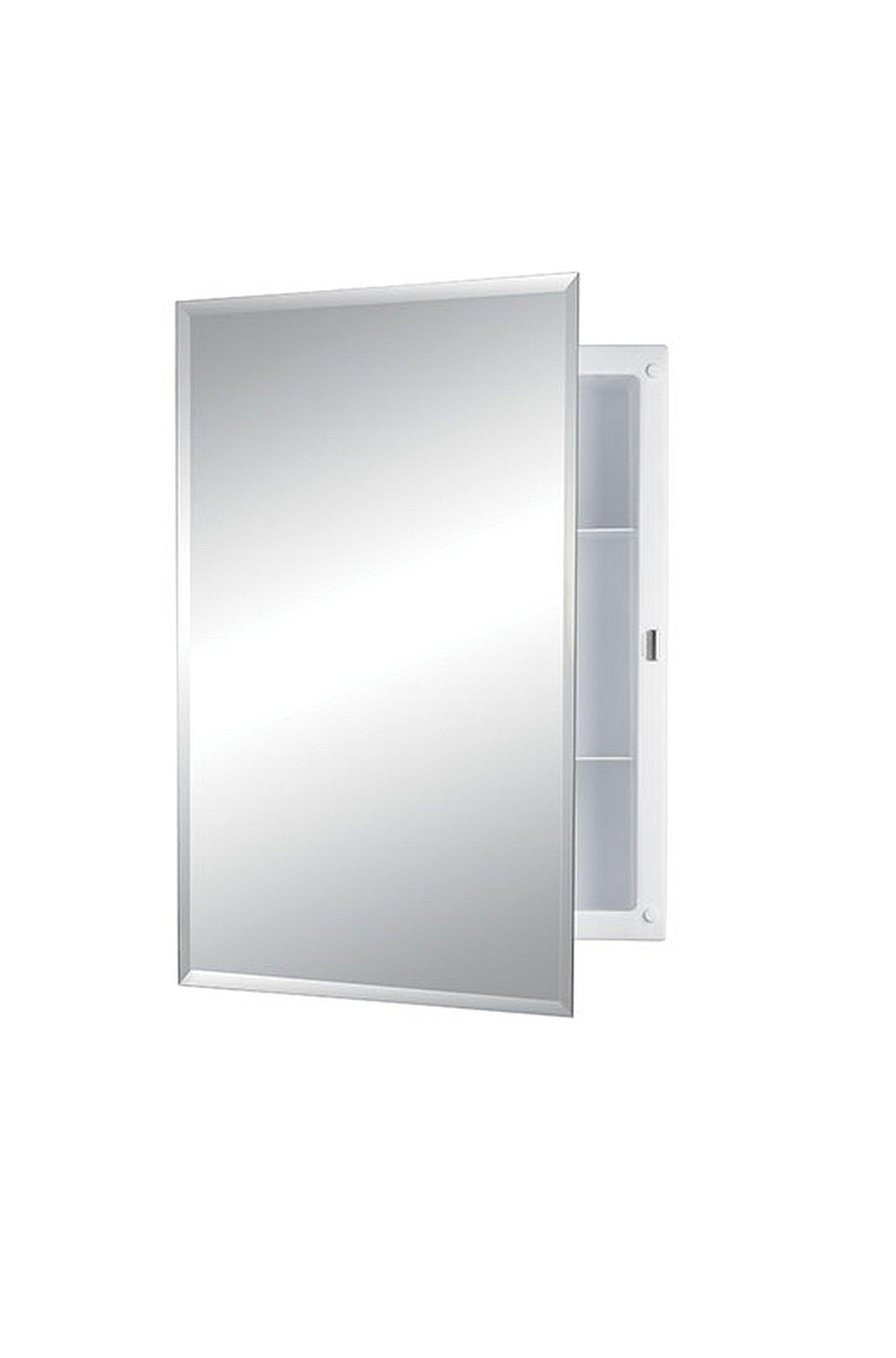 Jensen 868M22XWHZX Bevel Mirror Medicine Cabinet, 16'' x 22'' by Jensen