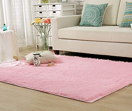Pink Rugs For Bedroom   Amazon Com Yj Gwl Soft Pink Rugs For Girls Kids Room Bedroom Shaggy