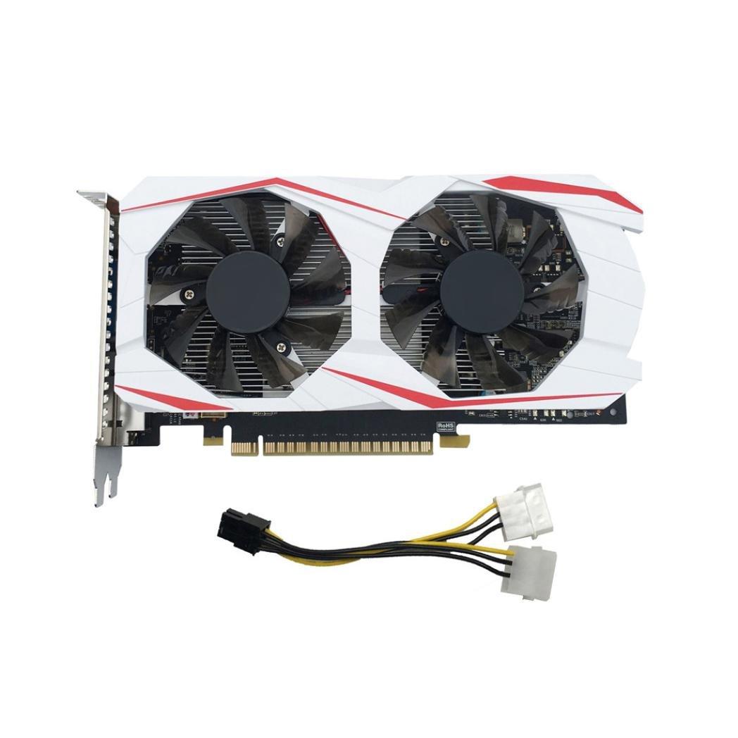 YIYEZI GTX 750Ti 2GB GDDR5 192bit VGA DVI HDMI Graphics Card With Fan For NVIDIA GeForce (White) by YIYEZI (Image #2)