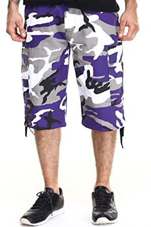 e08f9aaa78 Mens Guys Big N Tall BTL Camoflauge Cotton Twill Belted Camo Cargo Shorts  P212A (30