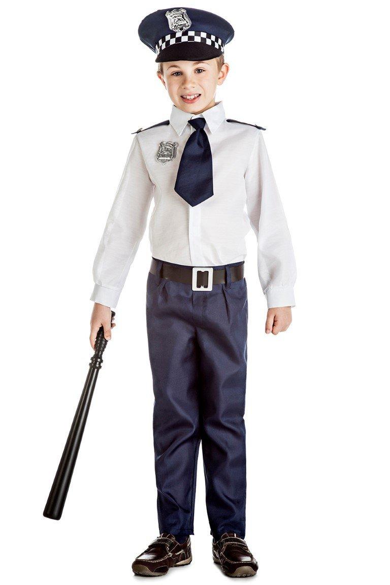 Disfraz de Policia Infantil (3-4 años): Amazon.es: Juguetes y juegos