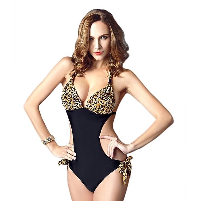 dcd19a7df8 PIN Donna Costume Mare Intero Halter String Bikini Push Up Sexy Costume da  Bagno
