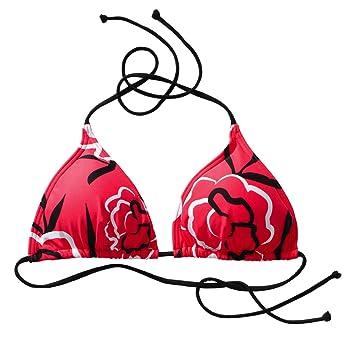 ETIREL DAMEN BIKINI-OBERTEIL MIRI FLOWER, rot,38  Amazon.de  Sport ... ad261926e6