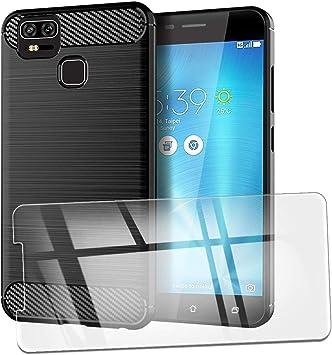QFSM Funda + Cristal Templado para ASUS Zenfone 3 Zoom ZE553KL ...