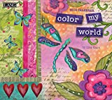 "LANG – 2018 Wall Calendar – ""Color My World"" – Artwork By Lisa Kaus – 12 Month – Open, 13 3/8″ X 24″"