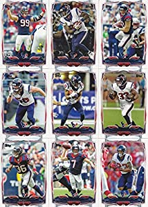 Houston Texans 2014 Topps NFL Football Complete Mint 15 Card Team Set Including the Rookie Card of the 2014 NFL #1 Draft Pick Jadeveon Clowney Plus JJ Watt and More