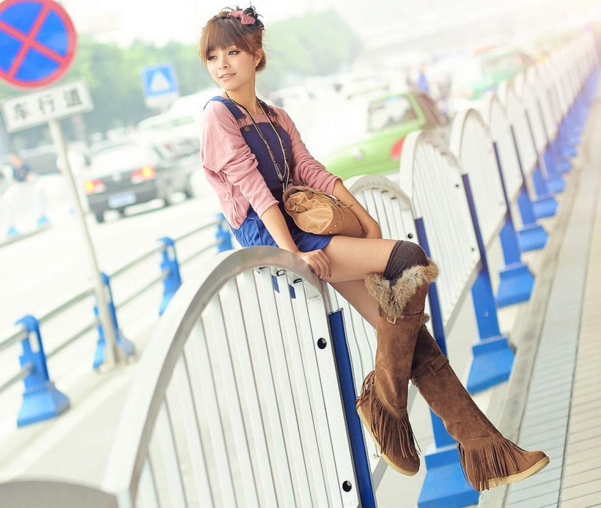 XQY Mode Mode Mode Plus SAMT Flache Weibliche Stiefel Baumwolle Stiefel Quaste Stiefel Damen Stiefel Große Stiefel 34-43 7f7800