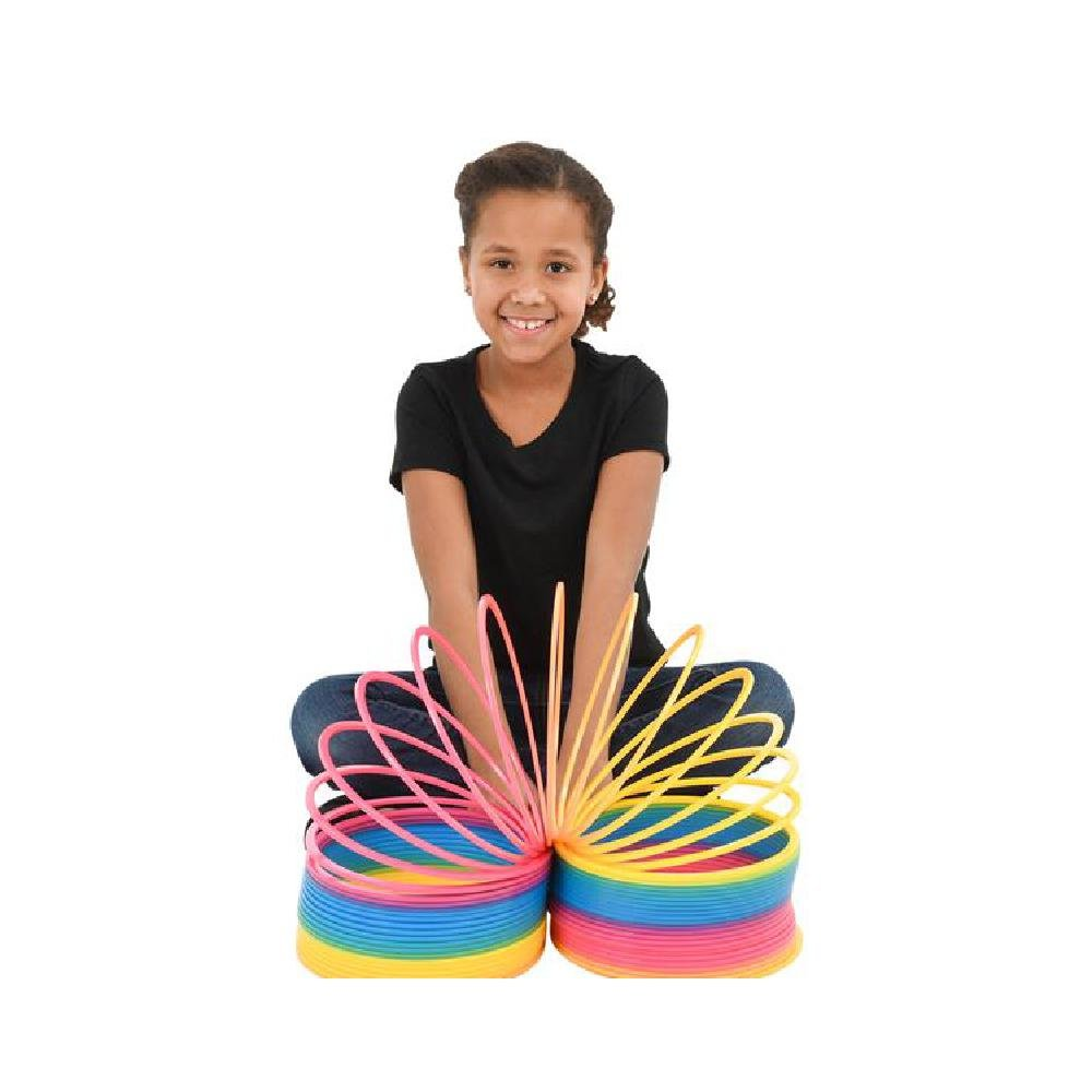 6'' Jumbo Rainbow Coil Spring (With Sticky Notes) by Bargain World (Image #1)