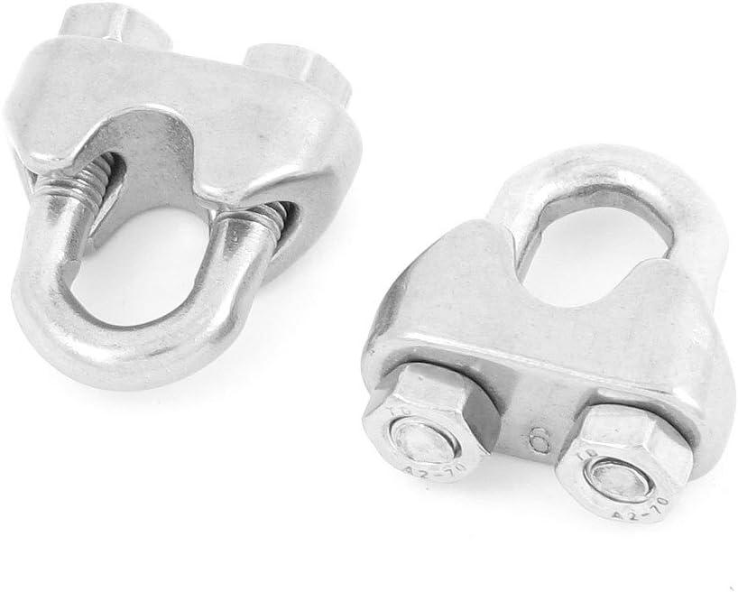 Sourcingmap a13092700ux1074 - Hardware par sola silla cable de acero de 6 mm pinza perno u sujetador abrazadera