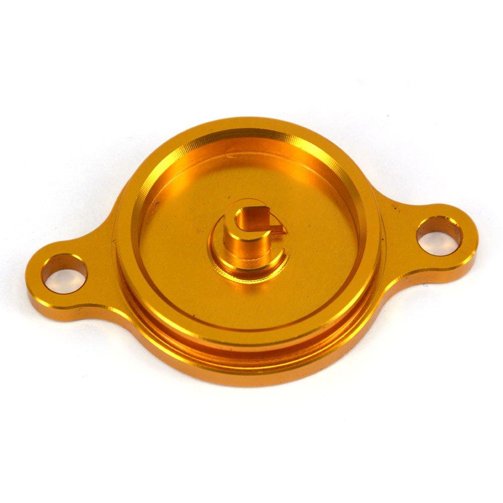 JFG RACING Cappucci per coperchi filtro olio in alluminio billet Kawasaki KX450F 2006-2015 KLX450R 2008-2015 Verde