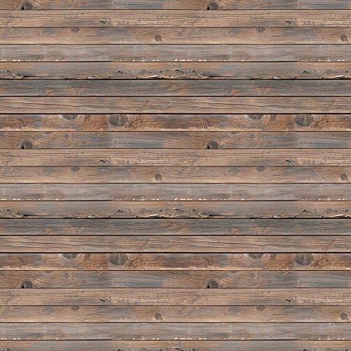Wall26 horizontal brown vintage and retro wood textured for Removable wallpaper wood paneling