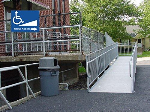 "10X10"" Handicap Disabled Wheelchair Ramp Access Signs Window Door Self Adhesive Bumper Sticker Decals Photo #5"