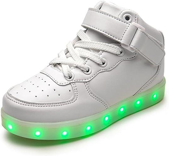 Haut Mode enfants 7 Couleu flamme Chaussures LED Lumineux