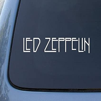 Led zeppelin band white logo decal sticker