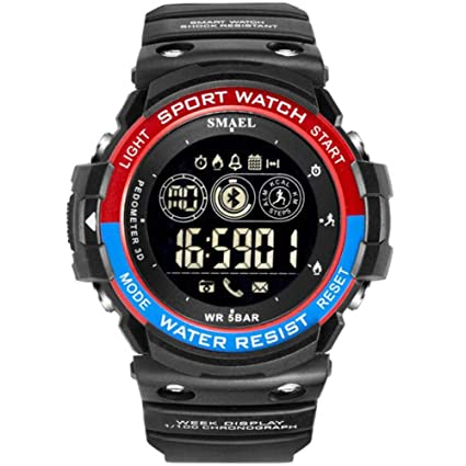 Amazon.com: SMAEL Mens Watch Bluetooth Smart Watch Step ...