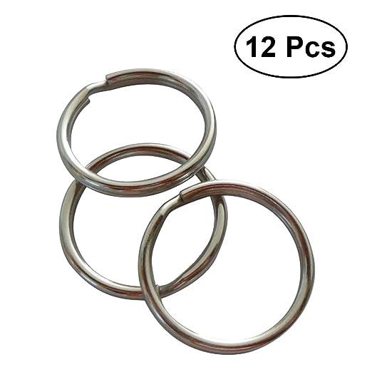 BESTONZON - Llavero de 12 piezas con anillas redondas para ...