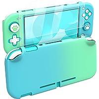 MoKo Skyddsfodral för Nintendo Switch Lite, PC skyddande fodral med 4 tumgrepp lock och 2 HD-genomskinliga härdat…