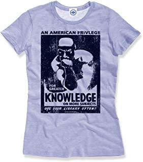 product image for Hank Player U.S.A. WPA Knowledge/Use Your Library Often Women's T-Shirt