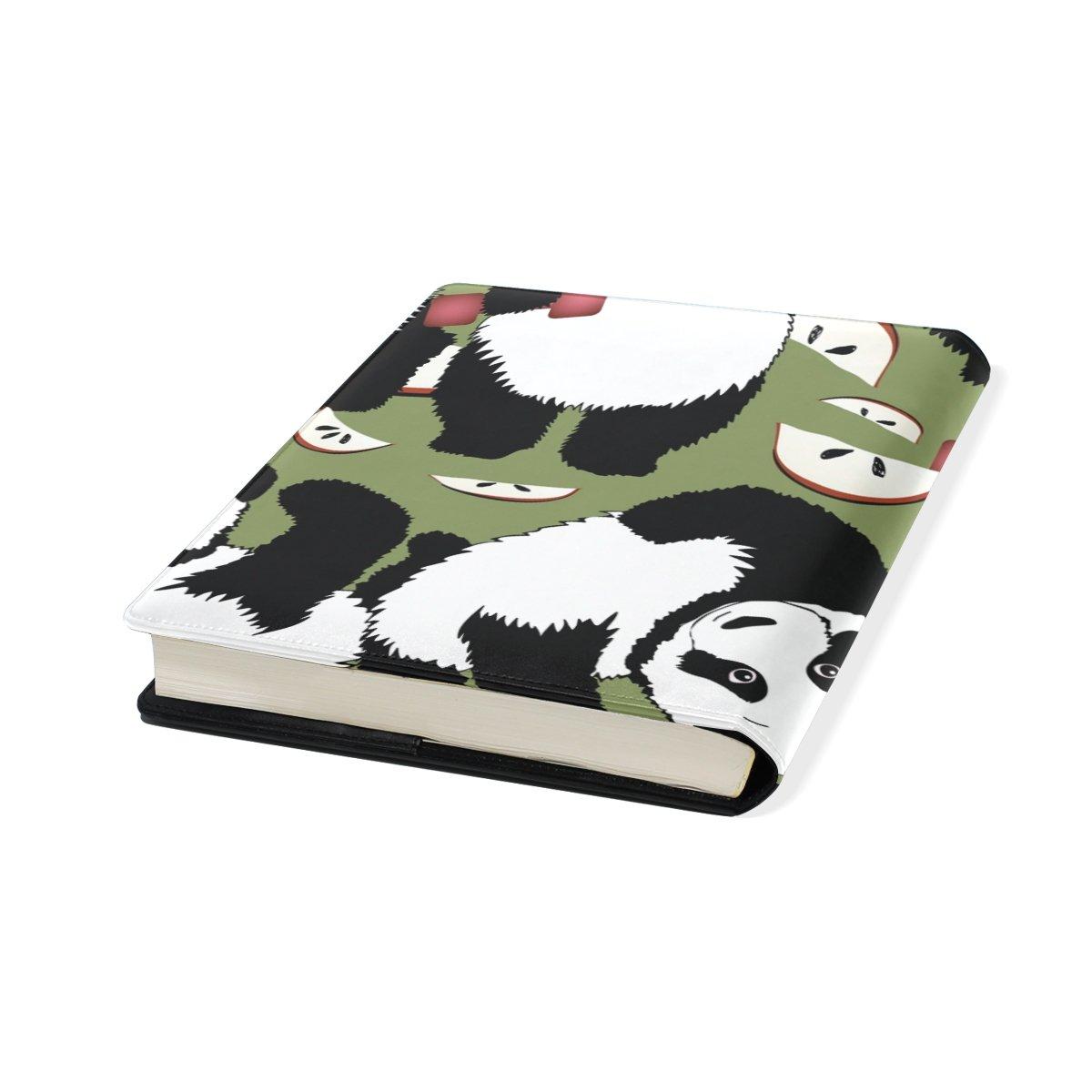 TIZORAX Panda mancuernas de estilo de vida saludable estirables fundas de libro se adapta a la mayoría de libros de texto de tapa dura hasta 9 x 11.