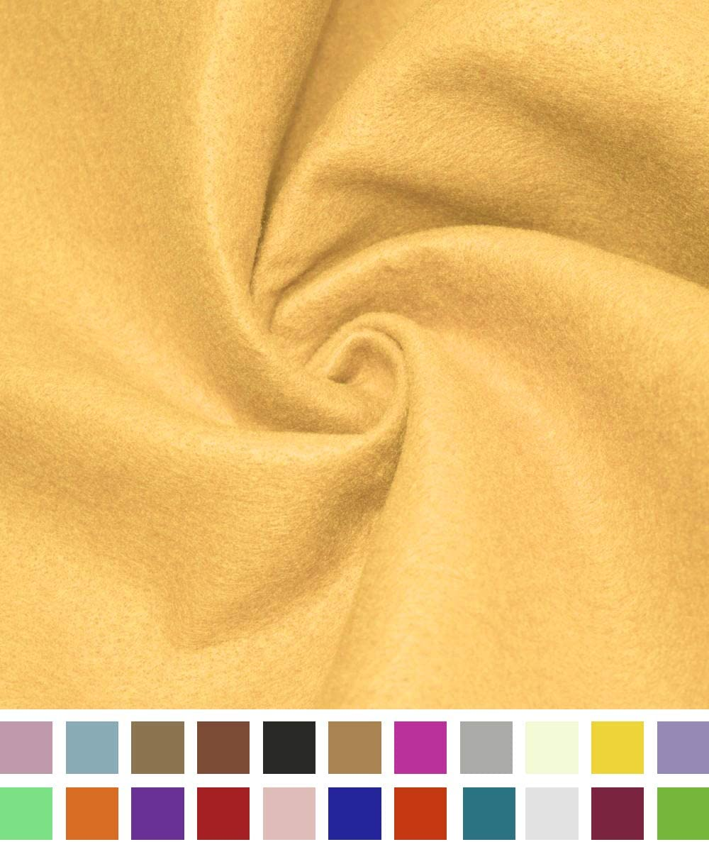 Cushion and Padding 72 Inch Wide 1.5mm Thick DIY Arts /& Crafts Acrylic Felt Fabric Barcelonetta Sewing Antique Gold, 1 Yard