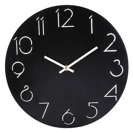 YVSoo Reloj de Pared Silencioso,Sencillo Moderno Reloj de Cuarzo para Cocina, Sala,