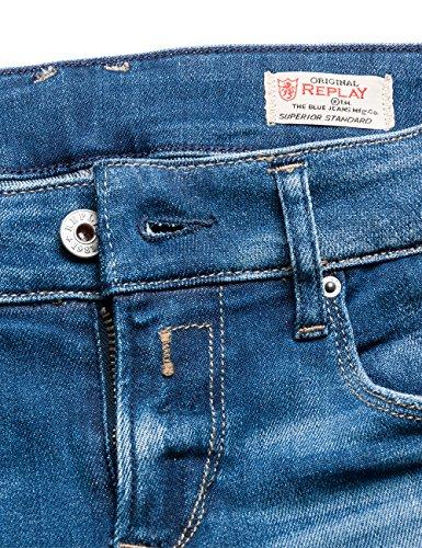 Donna blue Blu Replay 9 Denim Jeans Slim Rose aPqwU7O
