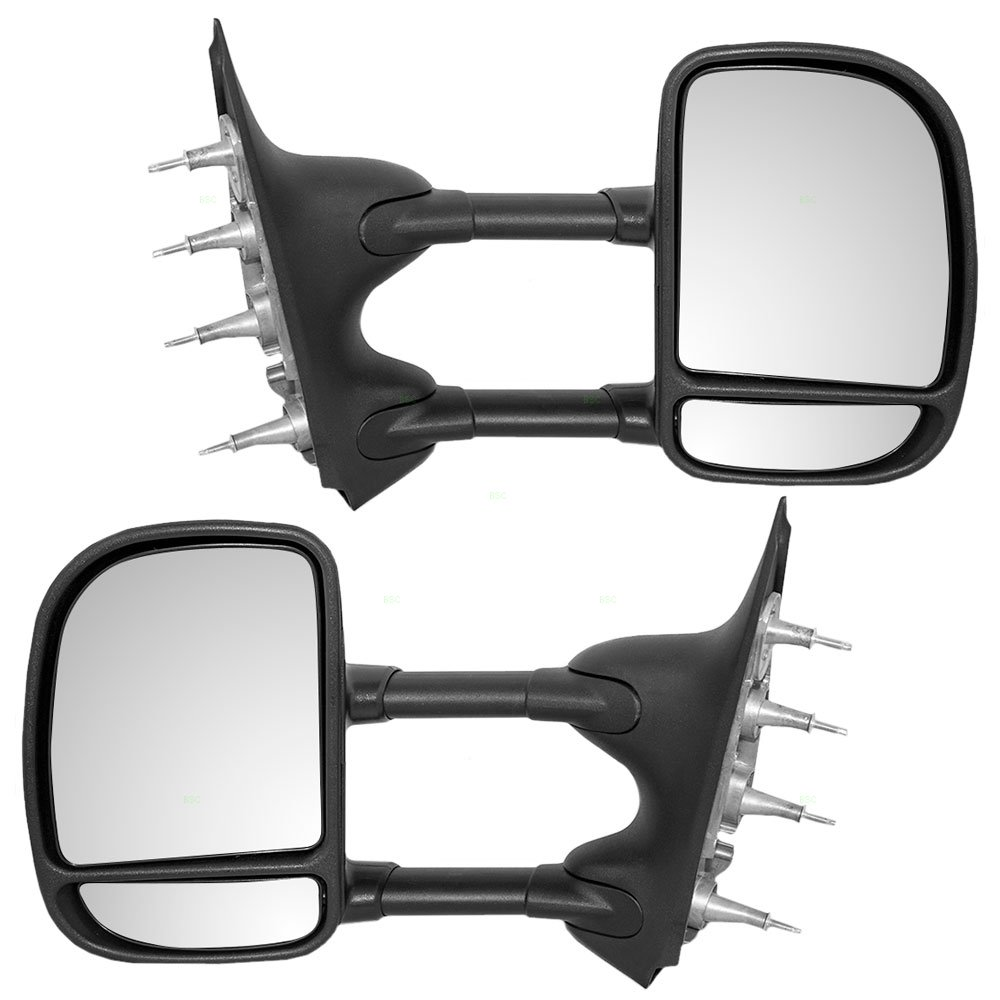 Amazon.com: Driver and Passenger Manual Tow Telescopic Side View Mirrors  Dual Arms Double Swing Replacement for 03-16 Ford E-Series Van 7C2Z17683DA  ...