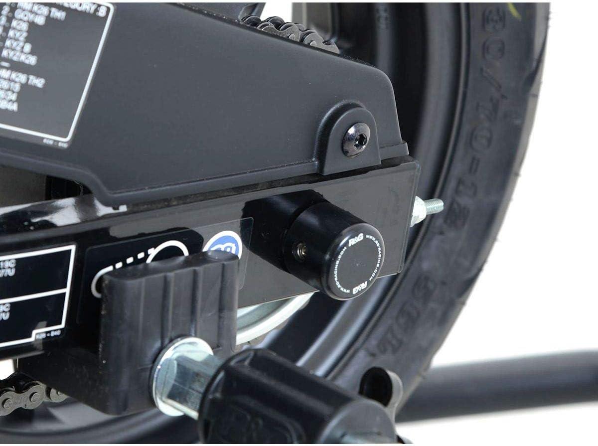R/&G Racing 14-19 Honda Grom Rear Axle Sliders Black