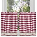 GoodGram Buffalo Check Plaid Gingham Custom Fit Window Curtain Treatments Assorted Colors, Styles & Sizes