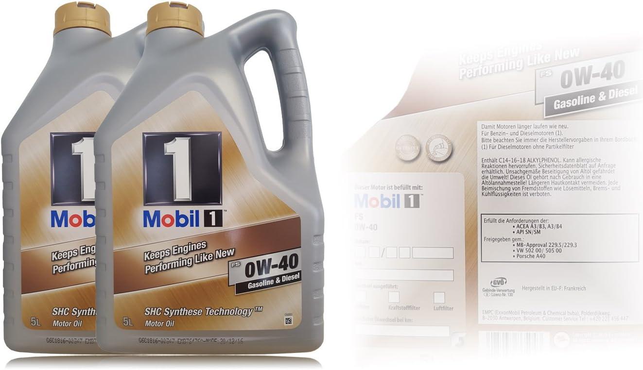 Mobil 1 Fs 0 W 40 Synthetisches Motorenöl 2 X 5 Auto