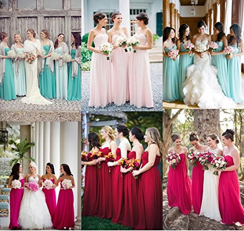 Brautjungfernkleider 139 Abschlusskleid Baby Abiball Lange Chiffon Trägerlos Ball Blau Abendkleider Elegant RgHwI8