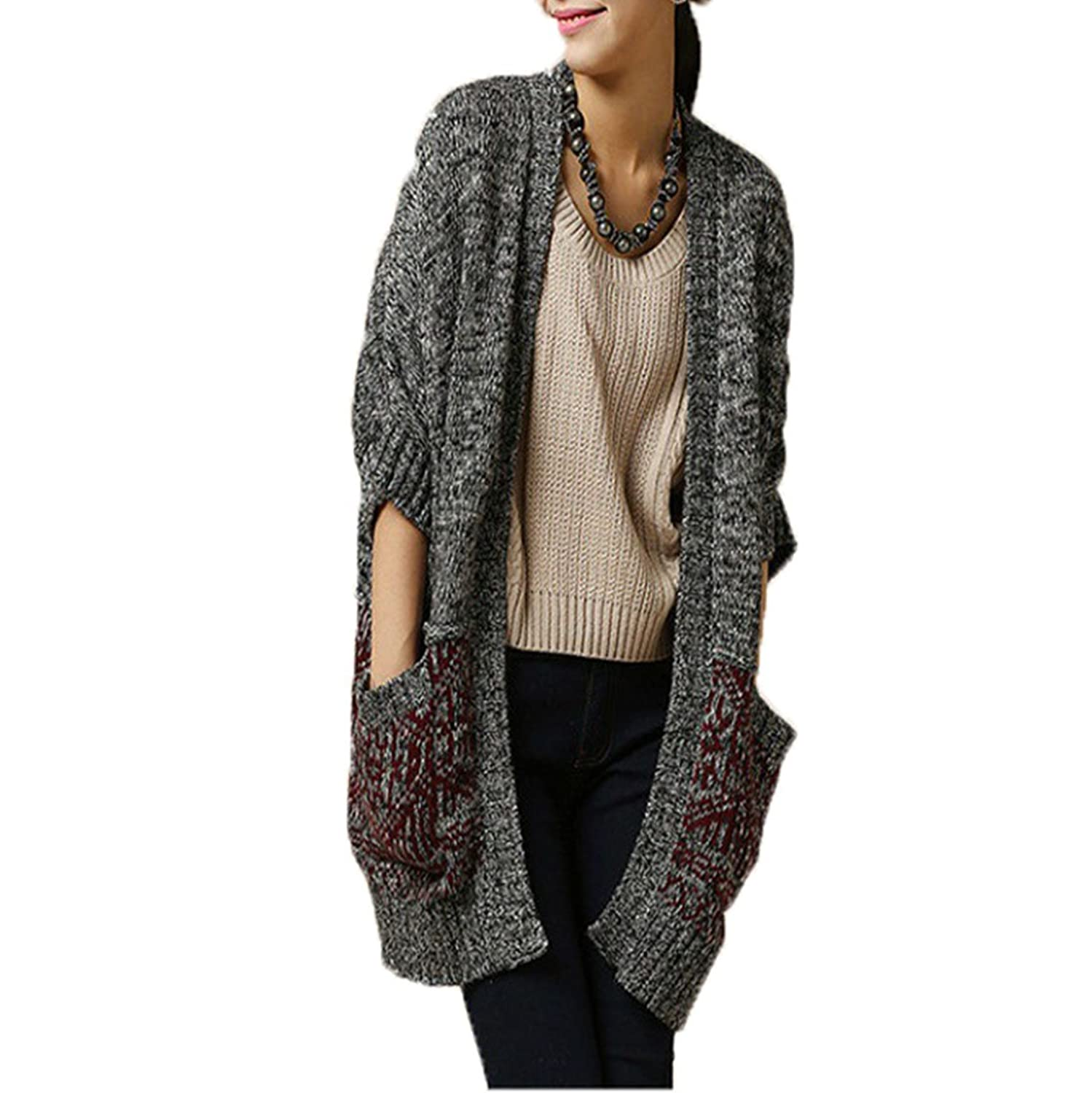 Tidecloth Women's Cozy New 1 Colors 1 Sizes 2015 Crew Cardigans Cotton Gray One Size